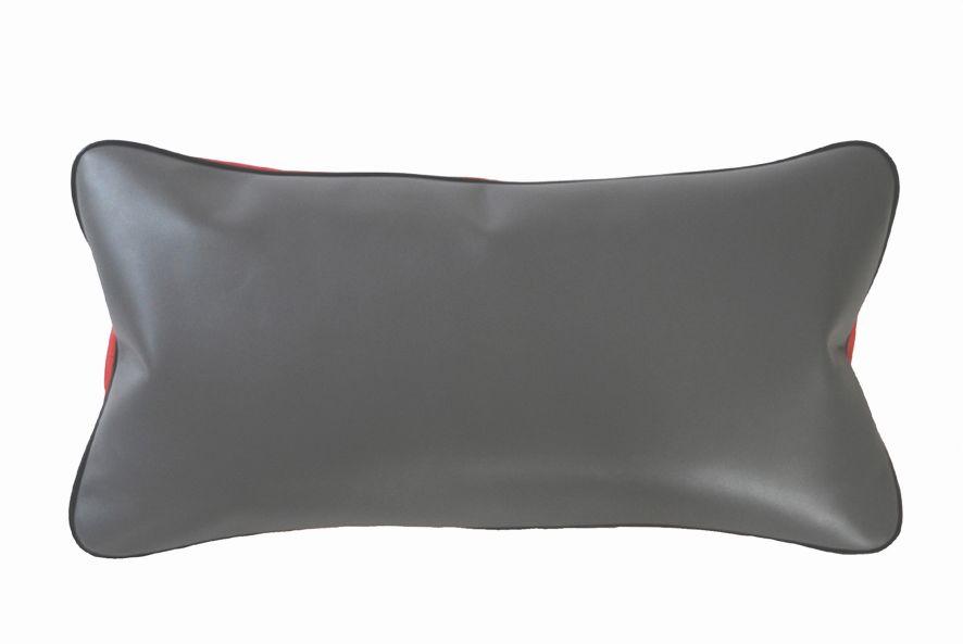 coussin en cuir sober anthracite uni. Black Bedroom Furniture Sets. Home Design Ideas